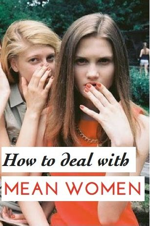 """Do you have grown up """"mean girls"""" at work? Great expert advice on how to deal with these mean women: http://chickrx.com/questions/how-can-i-deal-with-grown-up-andquot-mean-girlsandquot-at-the-office"""