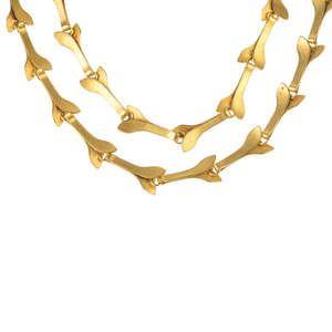 LOT:361 | GEORG JENSEN - a 1970s foliate necklace, by Marie Hassenpflug for Georg Jensen.