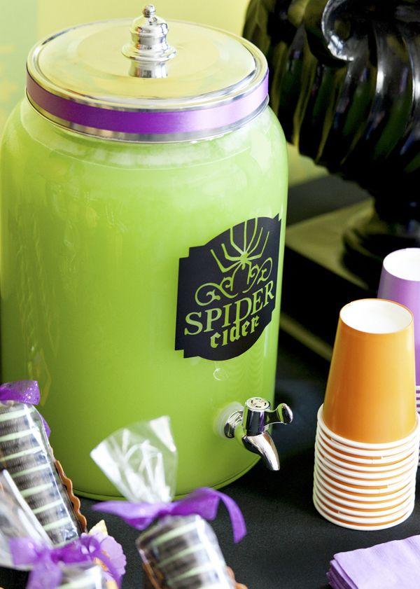 Halloween drink idea: Spider cider