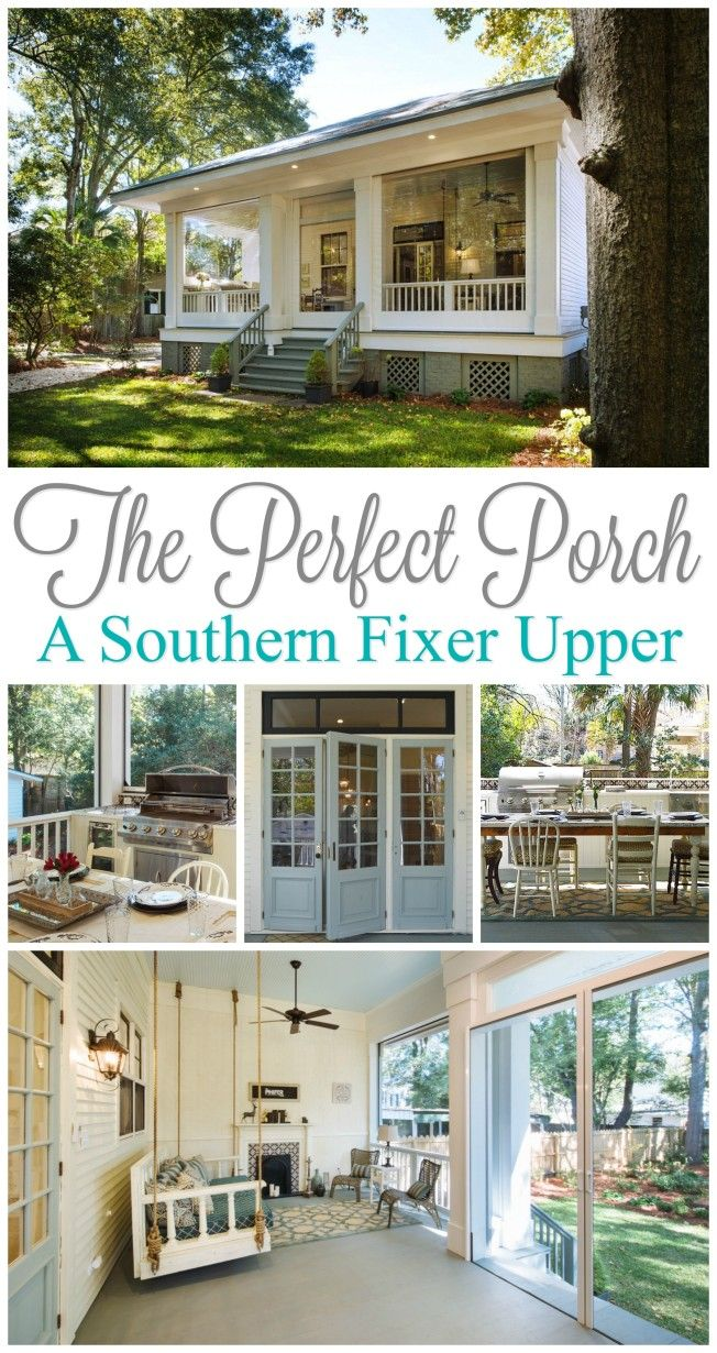 Fixer upper outdoor kitchen - Year Round Southern Outdoor Porch Entertaining