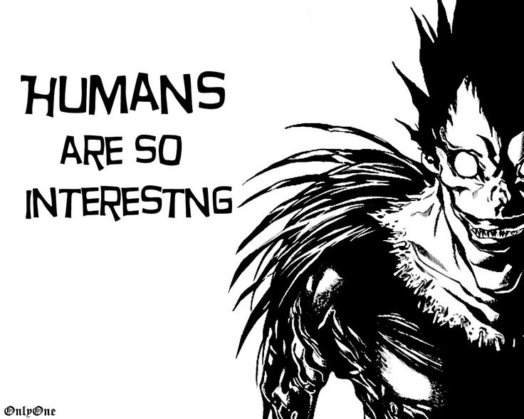 Ryuk, I get that you're a death god, but I remember you being a LOT LESS scarier than you are. Maybe it's the whole apple thing...