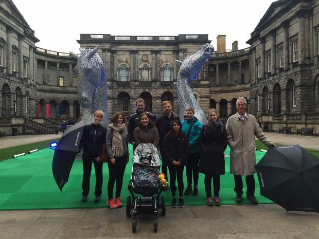 Edinburgh team raise £595 for the Access to Justice Foundation during the 2015 Edinburgh Magna Carta Legal Walk