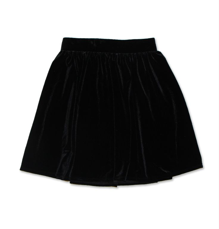 Velvet Flared Skirt. #hotforholiday