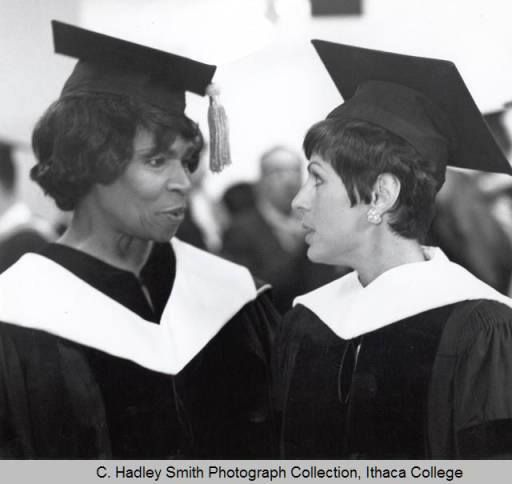 Marian Anderson and Roberta Peters received honorary degrees from Ithaca College, 1968