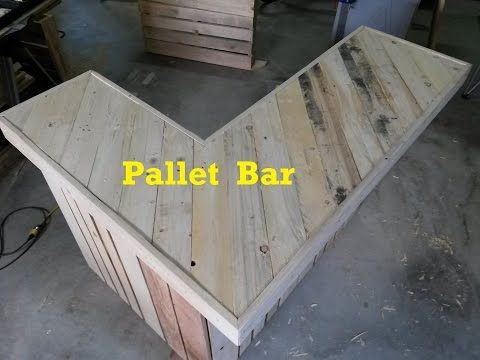 Learn how to build your own bar out of two wood pallets. Building a pallet bar is very easy as the most intensive steps are sanding and painting. After screw...
