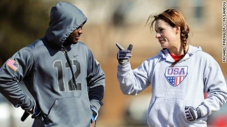 The Arizona Cardinals hire Jen Welter to the coaching staff. It is believed that she is the first woman to hold a coaching position of any kind in the NFL.
