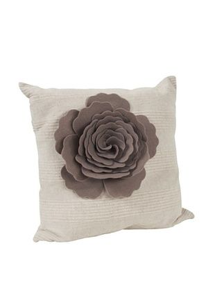 62% OFF Saro Lifestyle Taupe Flower Design Pillow