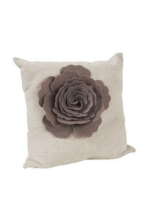62% OFF Saro Lifestyle Taupe Flower Design Pillow