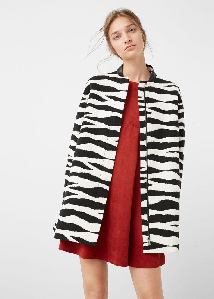 Manteau motif animal   MANGO