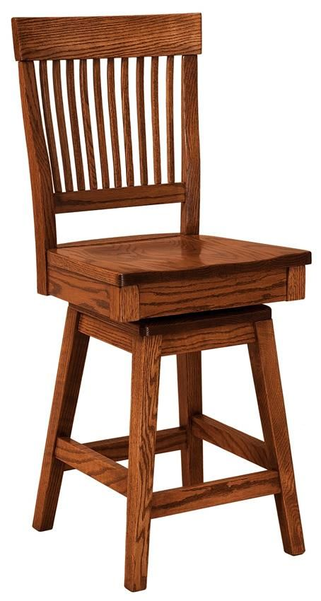 Amish Jefferson Swivel Bar Stool The Jefferson offers transitional style furniture that blends beautifully and never goes out of style.
