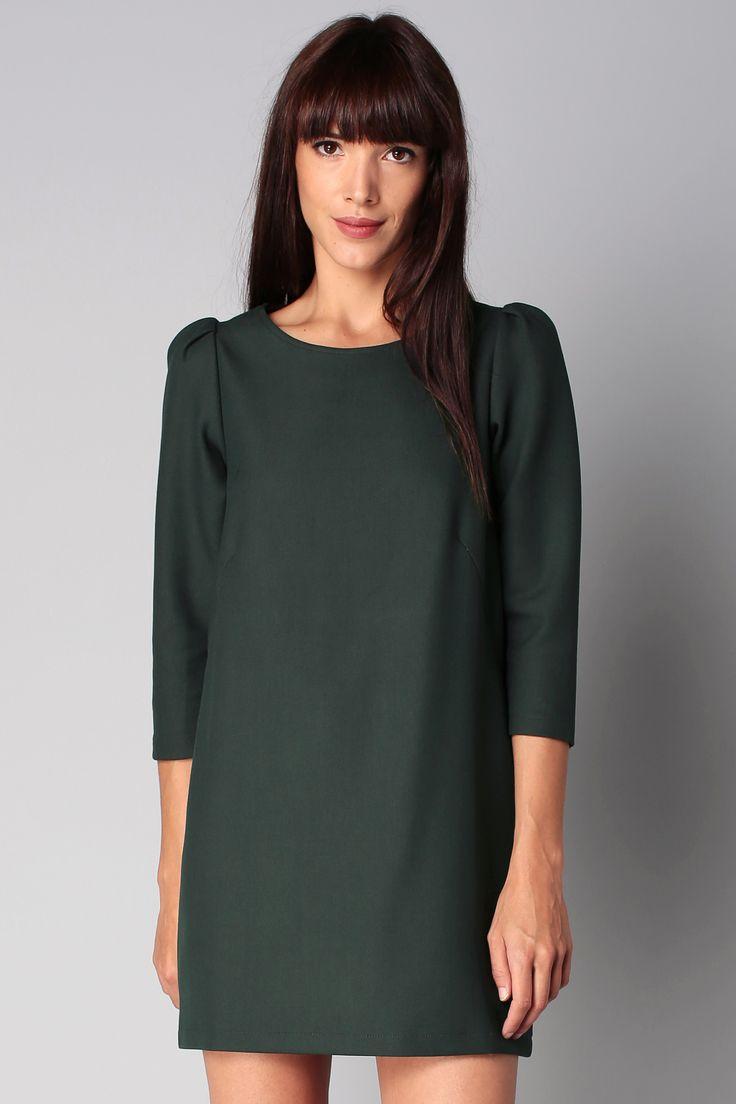 Robe verte dos zippé Polly Sessun sur MonShowroom.com