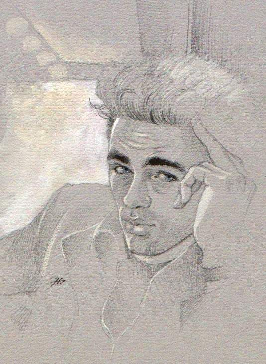 James Dean by Gabriel Tora