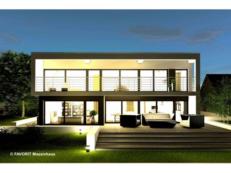 Twenty Five 220 - #Einfamilienhaus von Bau Braune Inh. Sven Lehner | HausXXL #Massivhaus #Energiesparhaus #Nullenergiehaus #Bauhausstil #Flachdach