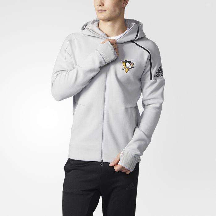 adidas Penguins adidas Z.N.E. Pulse Hoodie - Mens Hockey Hoodies & Sweatshirts
