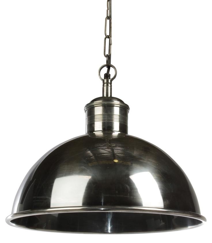 Boston Industrial Pendant Lamp Large - Matt Blatt  over kitchen island