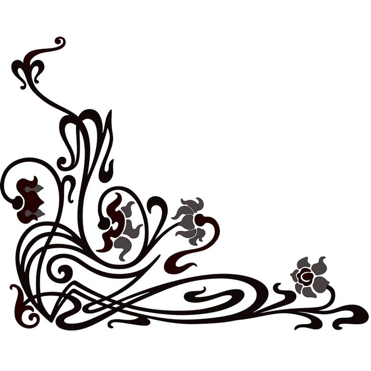 Corner Scroll Designs: Scroll Corner Decorative Ornament 1
