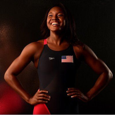 Simone Manuel, First black female swimmer to win an Olympic medal for America! #BlackGirlMagic #SimoneManuel #Rio2016