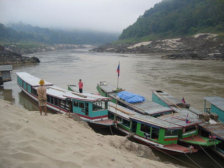 Pakbeng mekong river This rustic town-village at the junction of the Mekong River and the smaller Nam Beng