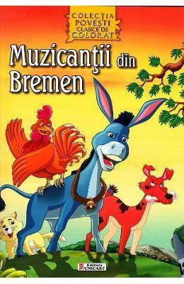 Muzicantii din Bremen - Povesti Clasice De Colorat - 5.50 lei