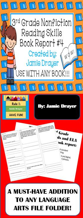 Book report projects for 3rd grade