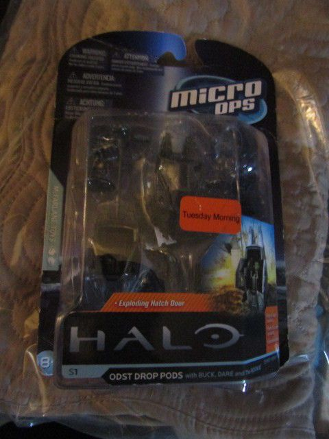 Halo Micro Ops Series   ODST Drop Pods with Exploding Hatch Door #Halo