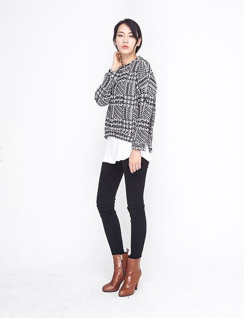 HOUNDS TOOTH KNIT http://arcloset.com/product_view.php?gs_idx=TO140013TT