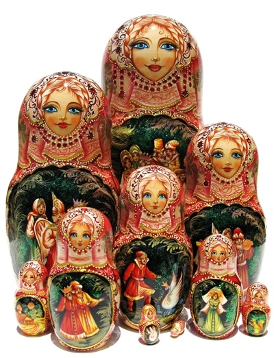 """The Swan Princess"" Matryoshka set"