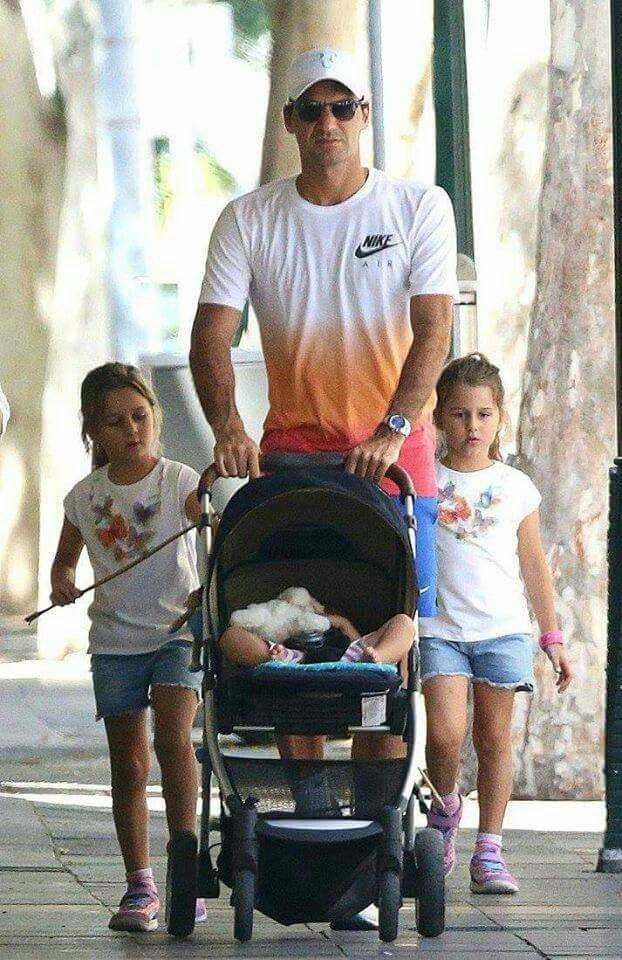 Roger Federer and wife Mirka have 2 sets of twins, identical girls, and asst of boys.