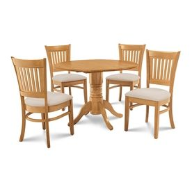 MD Furniture Burlington Oak Dining Set With Round Table Bumi5 C