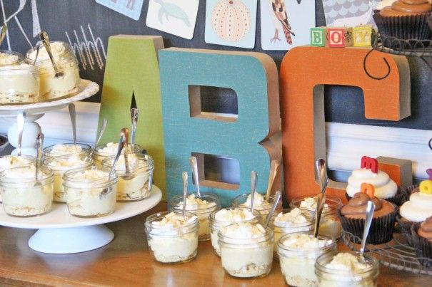 Alphabet Baby Shower Ideas (SO cute!)