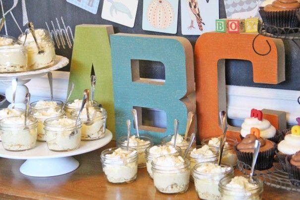 Alphabet Baby Shower Ideas (SO cute!)