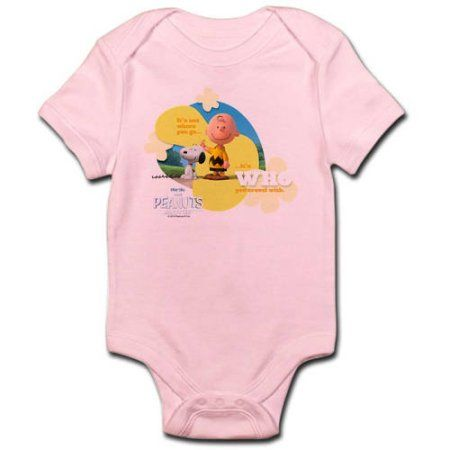 CafePress Travel - Snoopy and Charlie Brown Infant Bodysuit, Pink