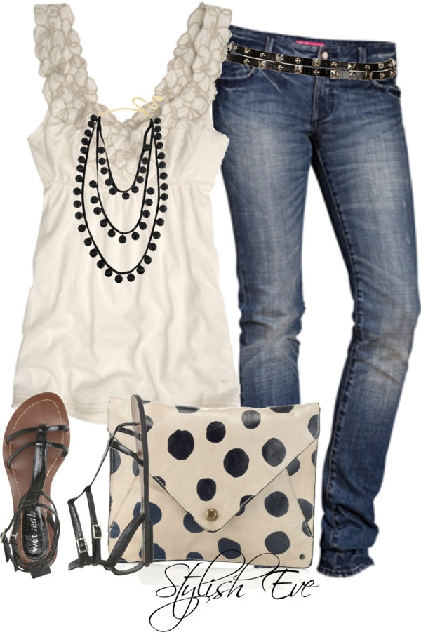 White/Black/Denim