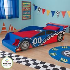 Race Car Toddler Bed Red Wooden Kidkraft Young Boys Sleeping Cot Kidsroom
