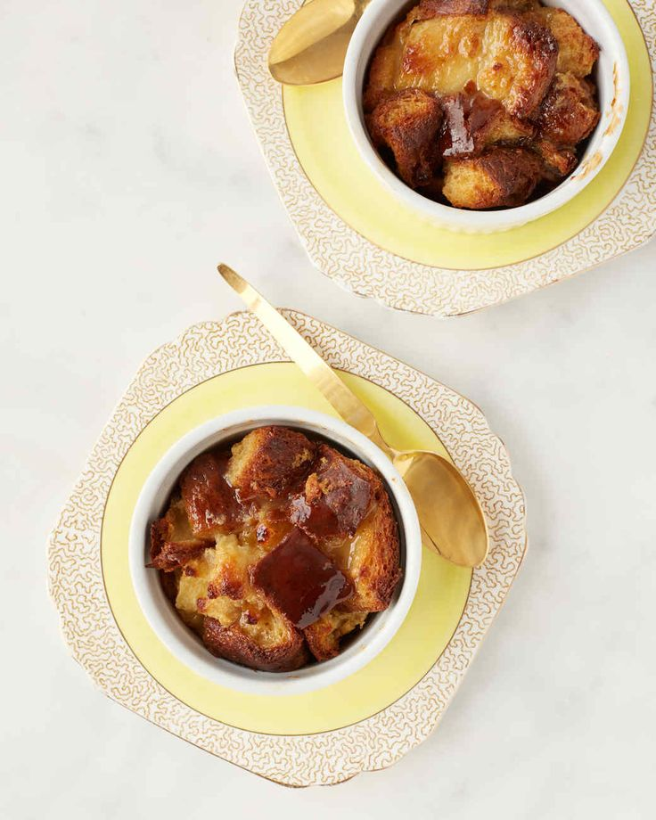 A simple bourbon glaze takes these individual bread puddings to new heights. Martha made this recipe on