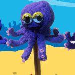 Octopus potlood poppetje knutselen van papier-maché