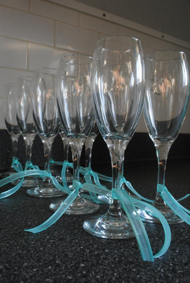 Tiffany's Inspired Glasses.. Like this idea!