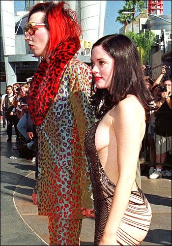 Marilyn Manson Hairstyles | rose mcgowan and marilyn manson. Marilyn Manson amp; Rose McGowan