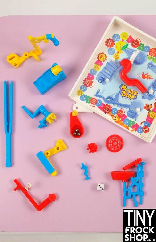 Barbie Milton Bradley Mini Mouse Trap Game   CM - 1:6 Barbie Toys