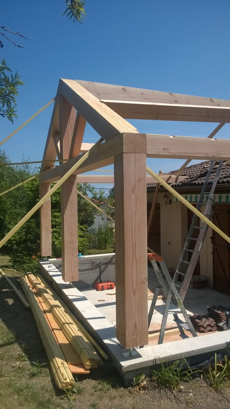 Vintage timber frame barn addition farmhouse exterior burlington - By Texas Timber Frames Extension D Une Habitation En Cours De R Alisation