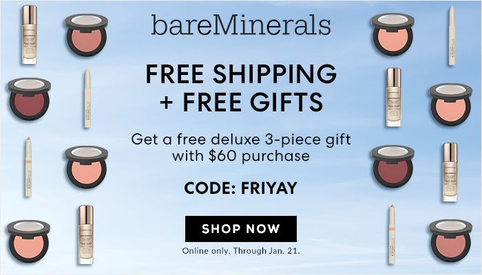 picture about Bare Minerals Printable Coupon titled BareMinerals Promo Code-Acquire Totally free Presents In addition Free of charge Transport