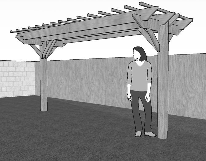 two post pergola plans google search more - Free Pergola Designs For Patios
