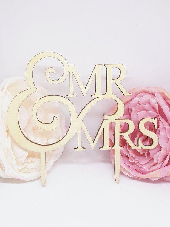 Caketopper Mr Mrs Holz Silber Copper Gold Rosegold Wedding Cake Cake Cake Plug Rosegold Hochzeit Hochzeitsdeko Hochzeitstorte Gold