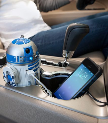 Father's Day Star Wars Gifts for Him: Star Wars R2-D2 USB Car Charger @ Think Geek