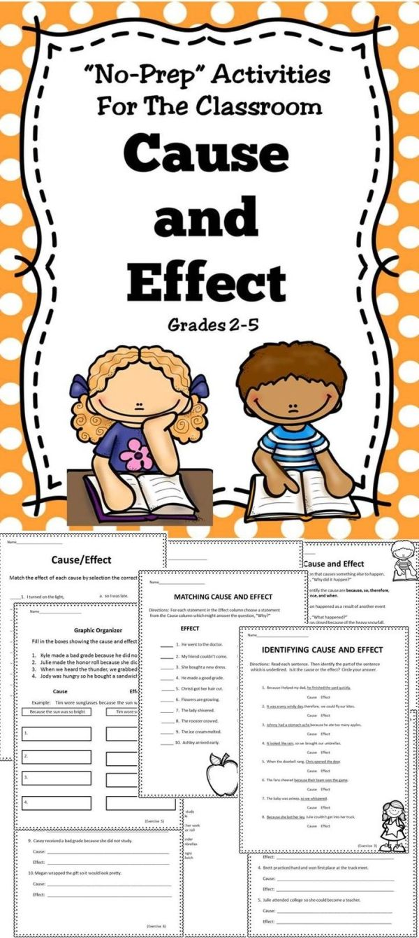 worksheet Cause And Effect Worksheets For Middle School 1000 ideas about cause and effect on pinterest a activity book for the classroom by doreen m
