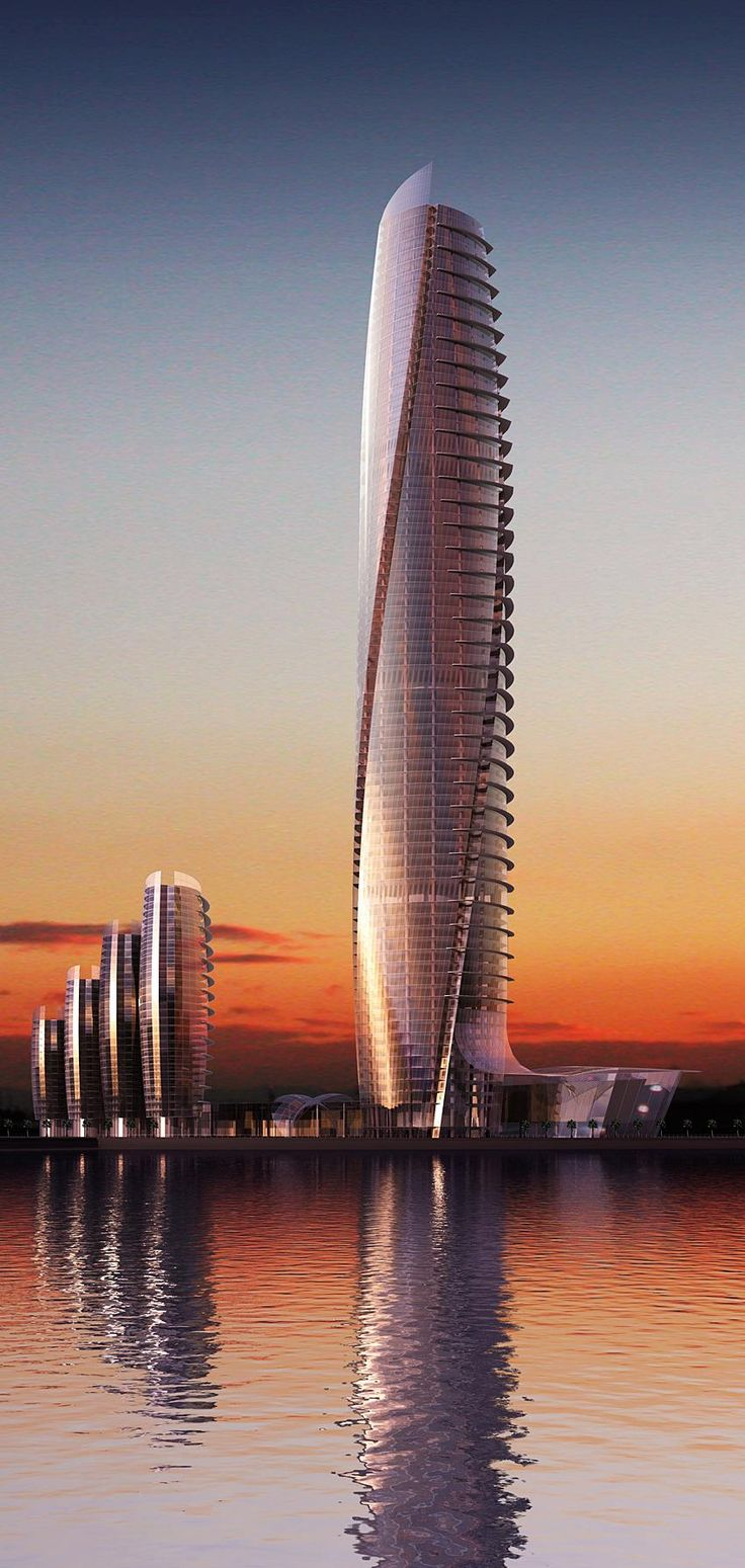 The Port Tower (under construction) Karachi, Pakistan. This will be a 1,947 foot tall skyscraper and will be constructed in associated with the Karachi Port Trust. The height of the tower has a special significance as it represents the year, 1947, when Pakistan was formed.
