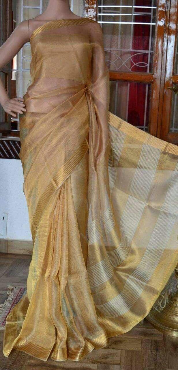 Linen tissue pink pure organic handwoven saree with silver zari border,Pink Linen saree,Pink linen tissue saree,Indian saree,Partywear saree