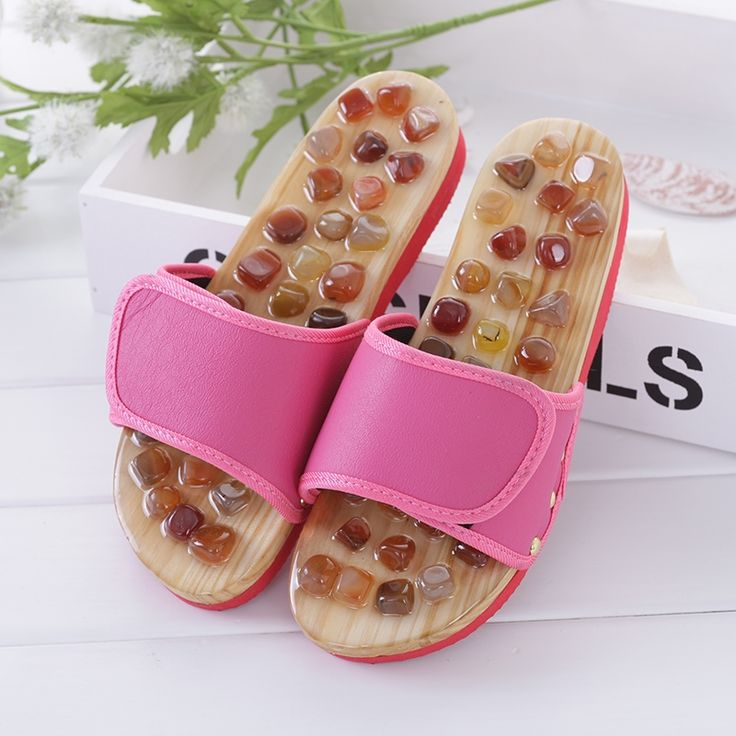 17.52$  Buy now - http://ali7r2.shopchina.info/go.php?t=32807878800 - Agate Reflex Foot Massage Slippers Acupuncture Health Massages Shoes Sandals Slippers Healthy Massager Foot Care 17.52$ #buychinaproducts