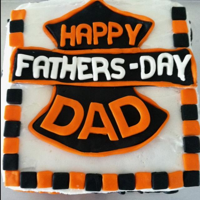 Harley-Davidson cake.