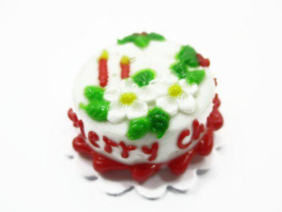 Dollhouse Miniature 1 Cake 2 cm Christmas Seasonal Dollhouse Food Supply 14929